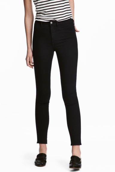 Skinny High Ankle Jeans - Black denim - Ladies | H&M 1