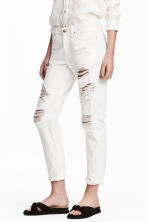 Boyfriend Low Ripped Jeans - Beyaz kot - Ladies | H&M TR 1