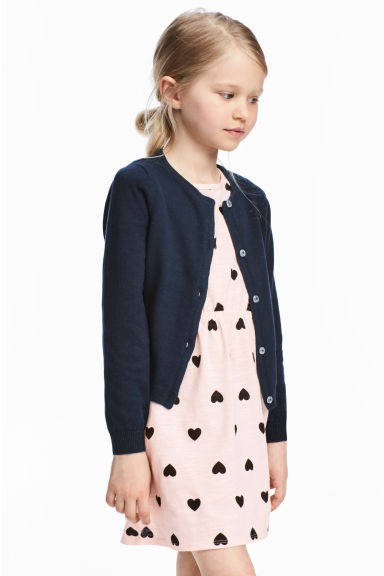 Cotton cardigan - Dark blue -  | H&M CA