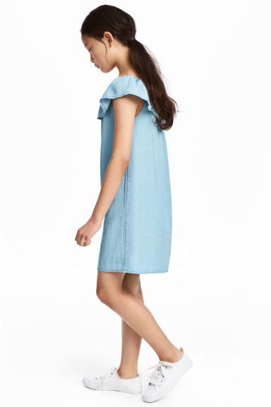 Off-the-shoulder dress - Blue - Kids | H&M 1