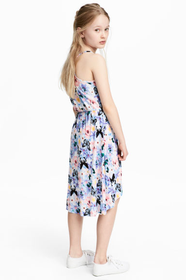 Printed dress - Purple/Floral -  | H&M CA 1