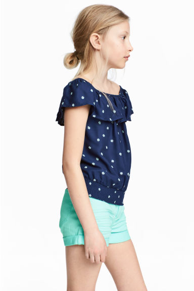 Flounced blouse - Dark blue - Kids | H&M 1