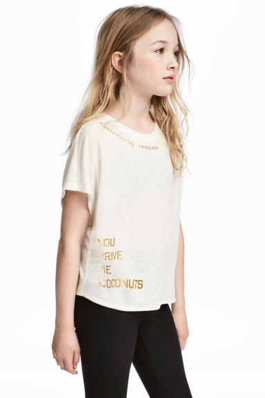 Tie top - White marl - Kids | H&M CN 1