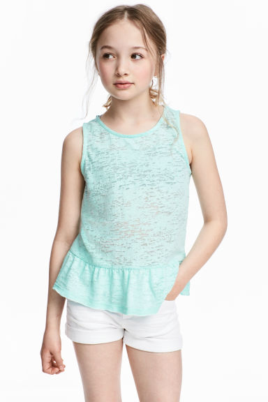 Top con motivi devoré - Verde menta -  | H&M IT