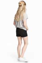 Twill shorts - Black - Kids | H&M CN 1