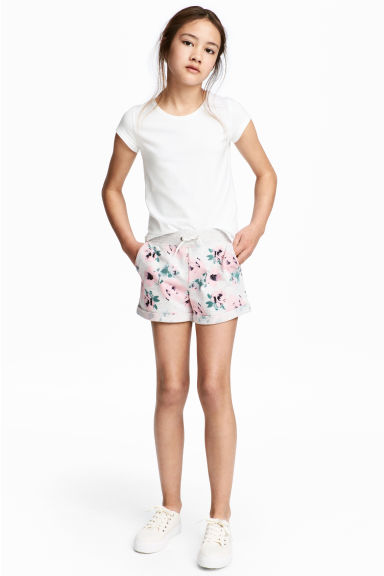 Shorts - Grey/Floral - Kids | H&M