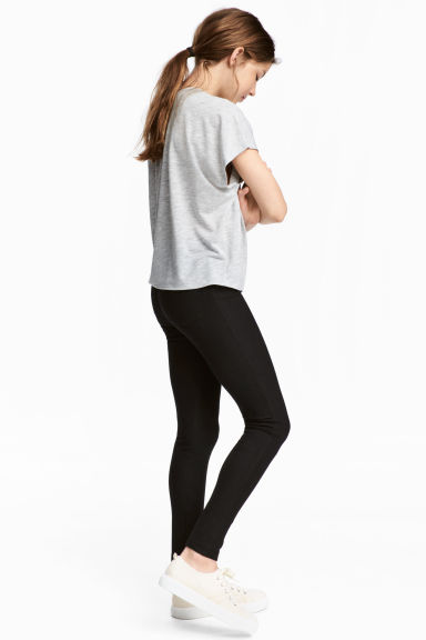 Jersey leggings - Black - Kids | H&M CA