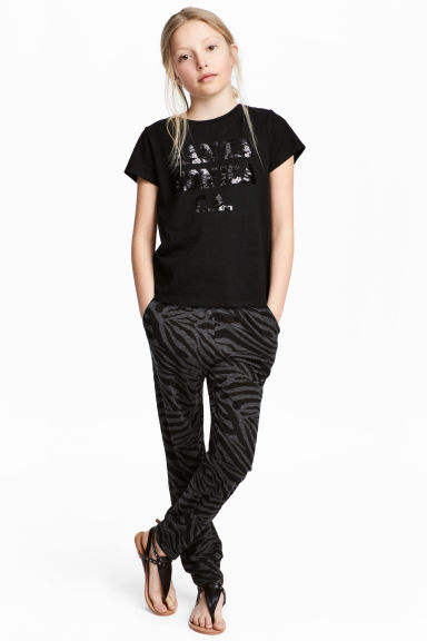 Jersey joggers - Dark grey/Black - Kids | H&M 1