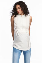 MAMA Sleeveless blouse - Natural white -  | H&M CN 1