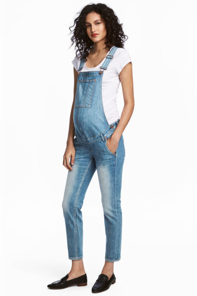 MAMA Denim dungarees - Light denim blue - Ladies | H&M 1