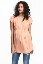 MAMA Blouse with tie belt - Apricot - Ladies | H&M 1
