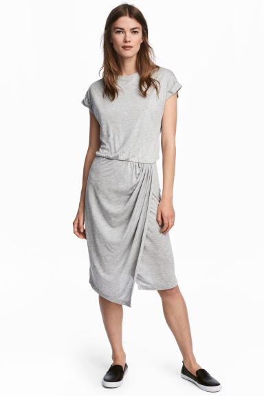 Wrap dress - Grey marl - Ladies | H&M 1