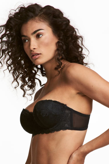 Lace balconette bra - Black - Ladies | H&M CA 1
