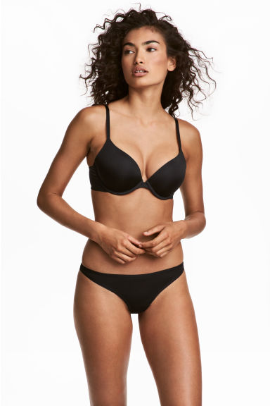 3-pack thong briefs - Black - Ladies | H&M 1