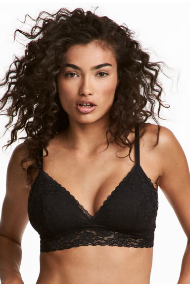 2-pack non-wired lace bras - Black/Toffee - Ladies | H&M 1