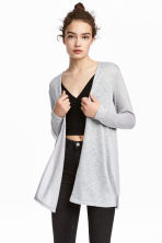 精織開襟衫 - Light grey marl - Ladies | H&M 1