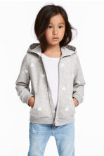 Hooded jacket - Grey heart - Kids | H&M 1