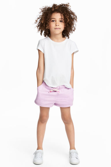 Jersey shorts - Light purple - Kids | H&M 1