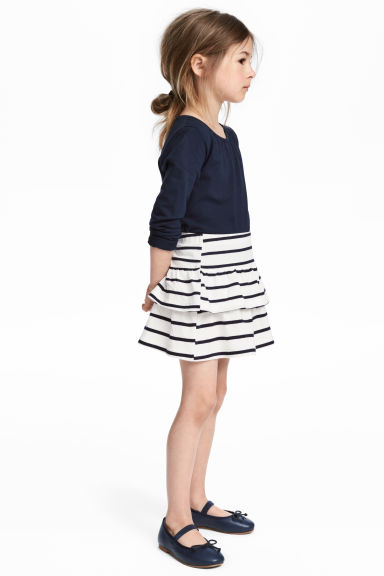 Jersey skirt - White/Black striped - Kids | H&M 1