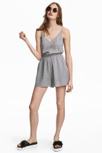 Playsuit - White/Patterned - Ladies | H&M CN 1