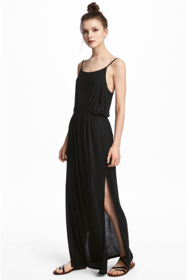 Maxi dress - Black - Ladies | H&M CA 1