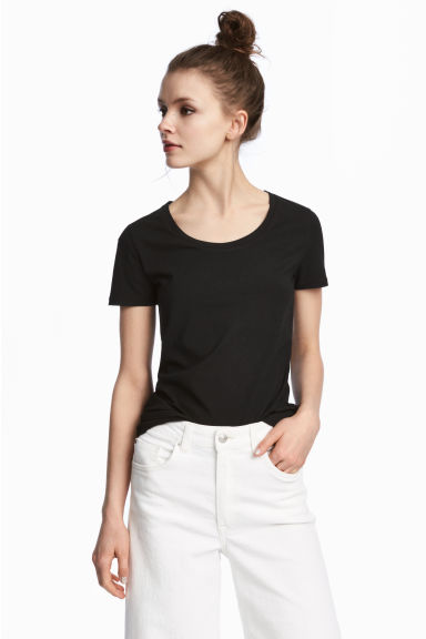Jersey top - Black - Ladies | H&M CA 1