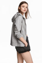 Hooded jacket - Grey marl - Ladies | H&M CN 1