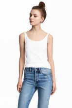 Jersey vest top - White - Ladies | H&M 1