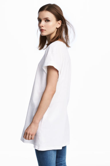 長版T恤 - White - Ladies | H&M 1