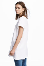Long T-shirt - White - Ladies | H&M IE 1