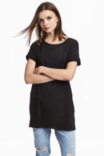 Long T-shirt - Black - Ladies | H&M 1