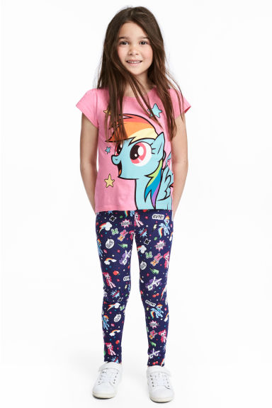 平紋內搭褲 - Blue/My Little Pony - Kids | H&M 1