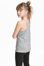 Sports top - Dark grey - Kids | H&M 1