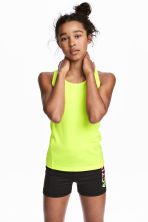 Sports top - Neon yellow - Kids | H&M 1