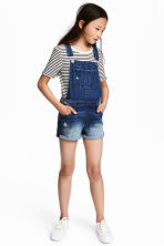 Dungaree shorts - Denim blue - Kids | H&M CN 1