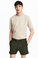 Cotton T-shirt - Light beige - Men | H&M 1