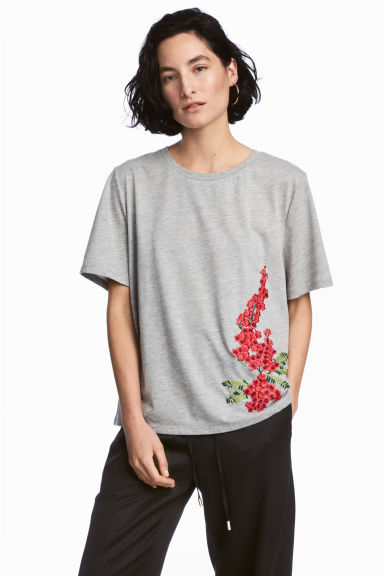 Embroidered T-shirt Model