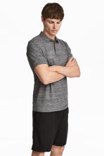 Polo shirt Slim Fit - Dark grey marl - Men | H&M 1