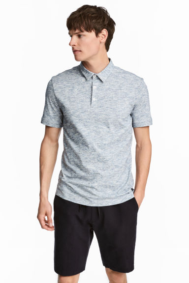 Polo - Slim fit - Blauw gemêleerd - HEREN | H&M BE 1