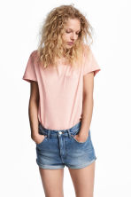 Slub jersey T-shirt - Powder pink - Ladies | H&M 1