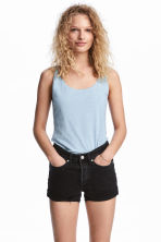 Jersey vest top - Light blue - Ladies | H&M CN 1