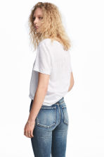 Linen top - White - Ladies | H&M 1