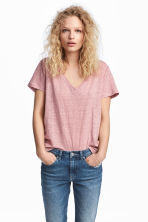 Linen top - Light pink - Ladies | H&M 1