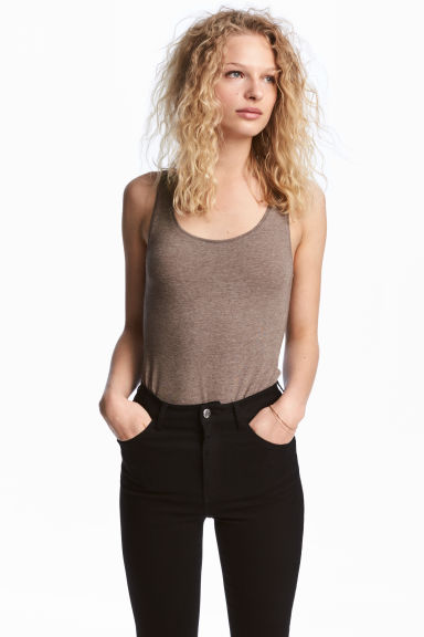 Jersey vest top - Mole - Ladies | H&M