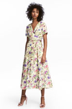 Patterned wrap dress - Light yellow/Floral - Ladies | H&M 1