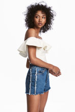 Off-the-shouldertop met volant - Wit - DAMES | H&M BE 1