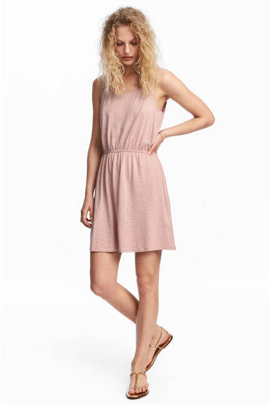 Sleeveless jersey dress - Pink - Ladies | H&M CN