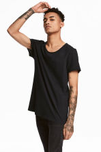 Raw-edge T-shirt - Black - Men | H&M 1