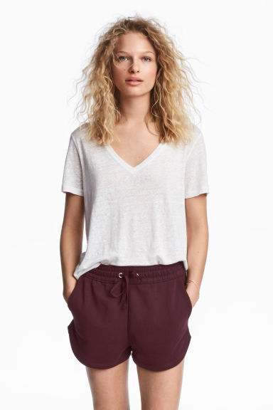 Sweatshirt shorts - Plum - Ladies | H&M 1