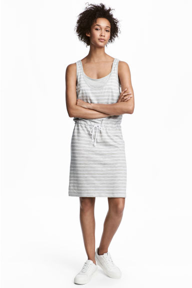MAMA Nursing dress - Light grey/Striped - Ladies | H&M